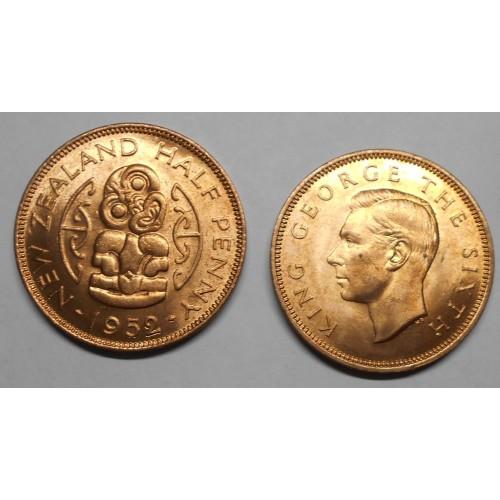 NEW ZEALAND 1/2 Penny 1952