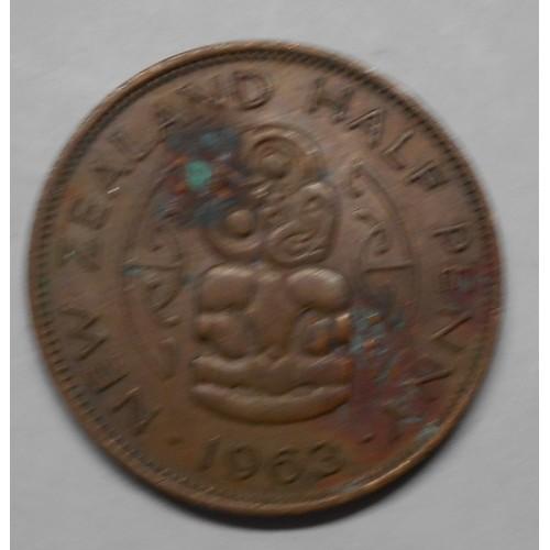 NEW ZEALAND 1/2 Penny 1963