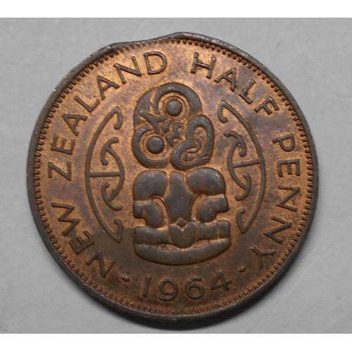 NEW ZEALAND 1/2 Penny 1964