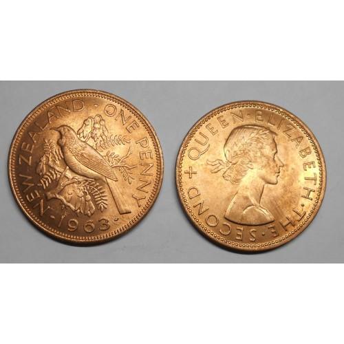 NEW ZEALAND 1 Penny 1963