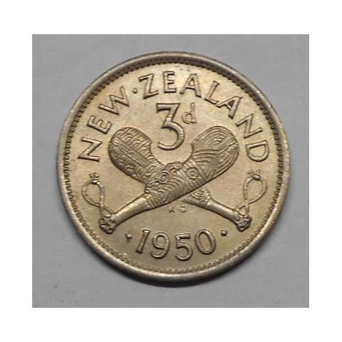 NEW ZEALAND 3 Pence 1950