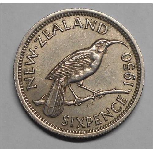 NEW ZEALAND 6 Pence 1950