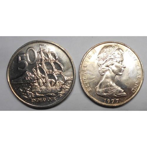 NEW ZEALAND 50 Cents 1977