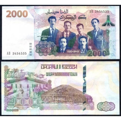 ALGERIA 2000 Dinars 2020...