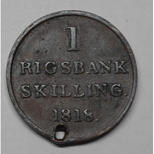 DENMARK 1 Rigsbankskilling...