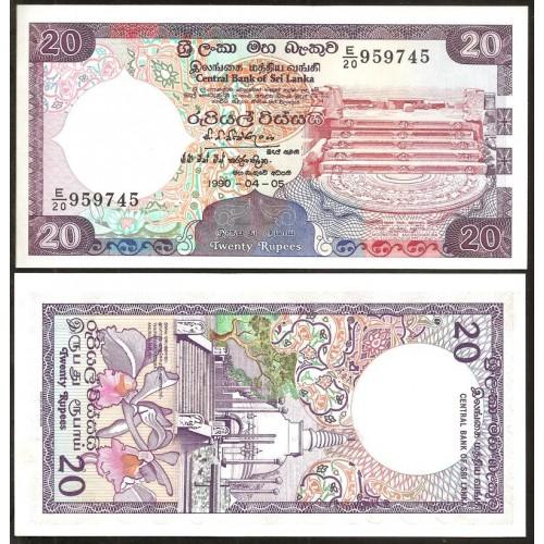 SRI LANKA 20 Rupees 1990