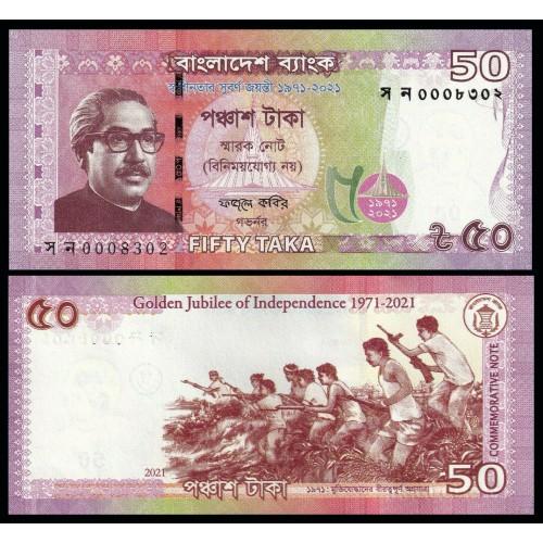 BANGLADESH 50 Taka 2021...