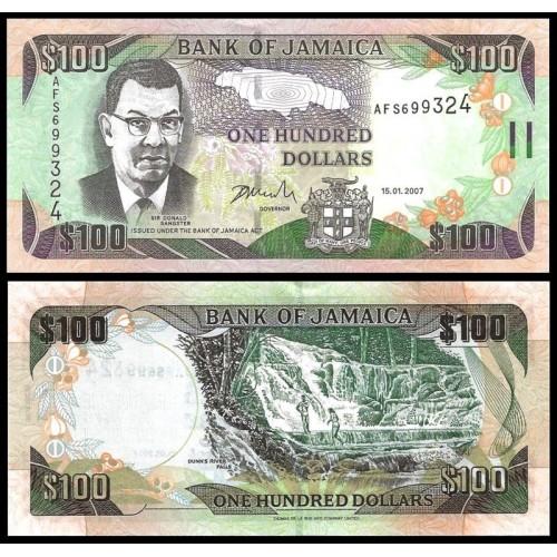 JAMAICA 100 Dollars 2007