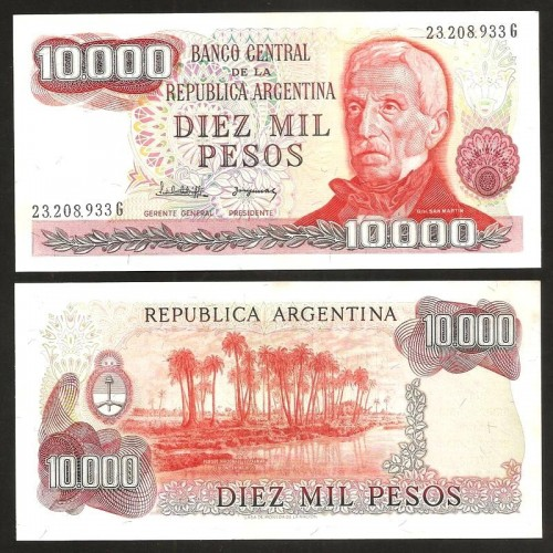 ARGENTINA 10.000 Pesos 1977