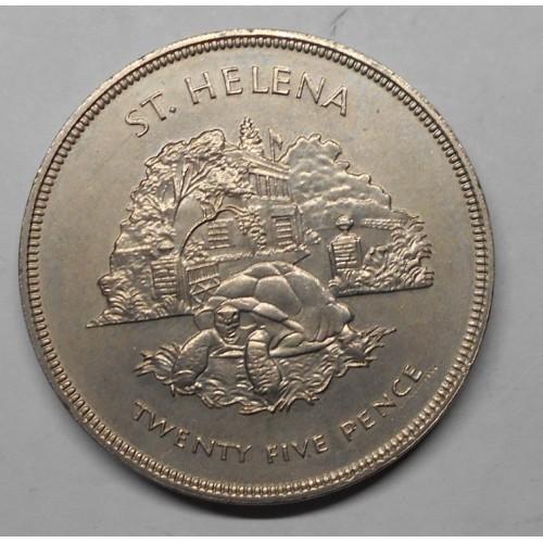 SAINT HELENA 25 Pence 1977...