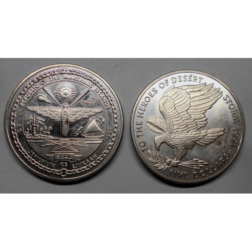 MARSHALL ISLANDS 5 Dollars...