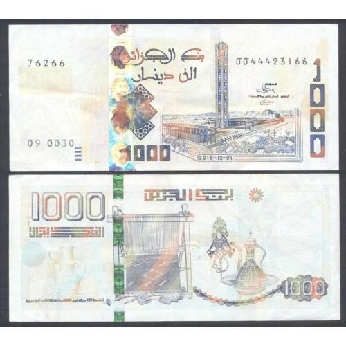 ALGERIA 1000 Dinars 2018...