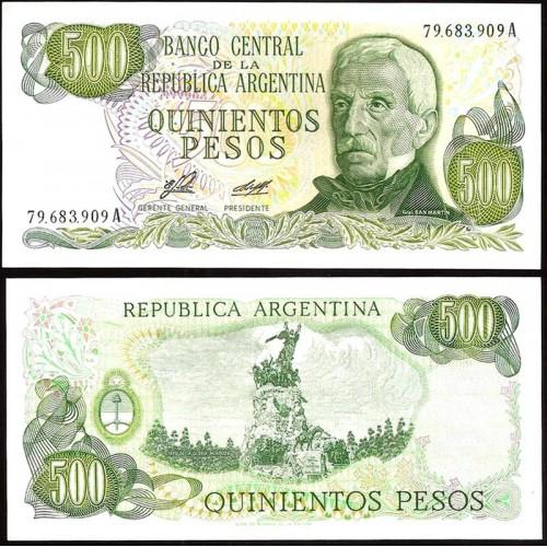 ARGENTINA 500 Pesos 1977