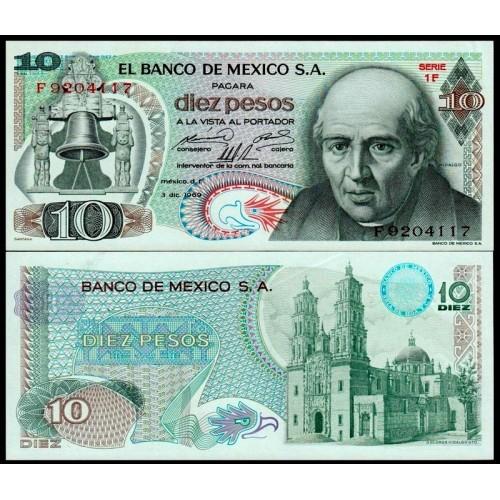 MEXICO 10 Pesos 03.12.1969