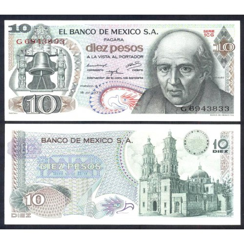 MEXICO 10 Pesos 1973